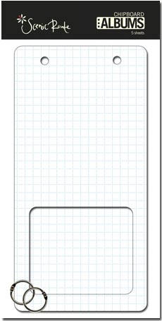 SRC327 White Grid Panorama window CHipboard Album copycropped