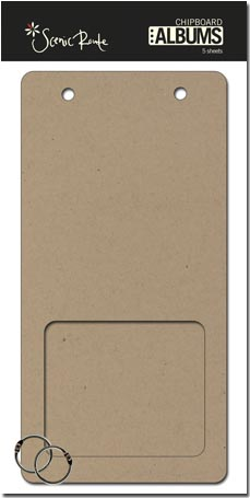 SRC326 Plain Panorama Window Chipboard Album 480cropped