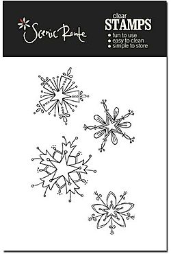 SRA012 A Snowflake Clear stamp backer cropped