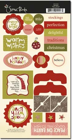 SRC006 Garland Warm Wished Chipboard - cropped