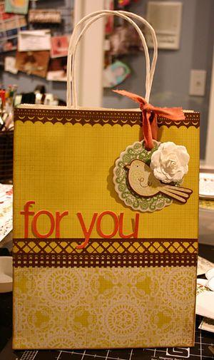 Doilies gift bag