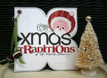 Xmas traditions mini book cover