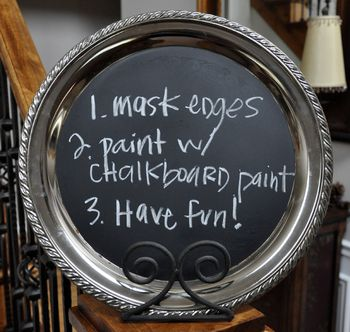 Chalkboard tray instructions
