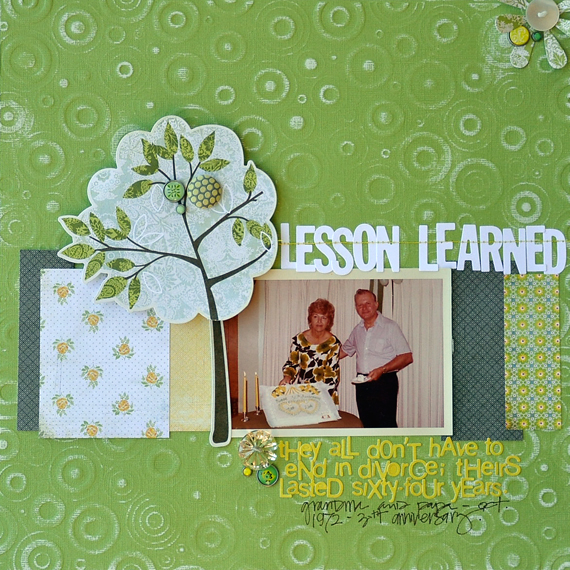 December - Coredinations Blog Hop - Lesson Learned