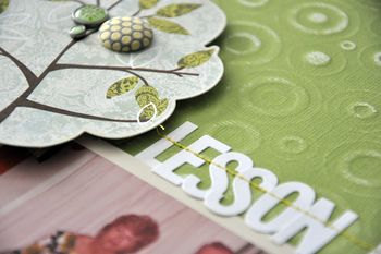 December - Coredinations Blog Hop - Lesson Learned closeup