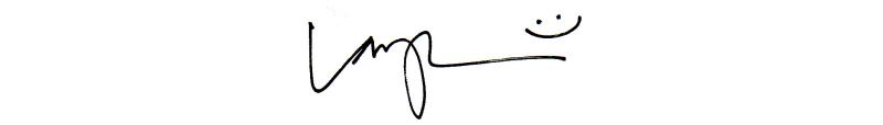 Signature wide centered